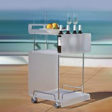 Ondina - Trolley in methacrylate and metal, available in different colours
