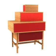 Terrazza - Valsecchi design chest of drawers made of veneered wood, with drawers, different colours available