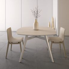Emma Table - Infiniti fixed wooden table, square top, 115 x 115 cm