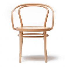 Chair 30 - Ton chair in wood, with armrests, with wooden, cane or padded seat