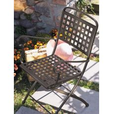Isabella P 2511 - Folding steel chair, for garden