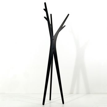 Treepod - Coat hanger in wood, black colour