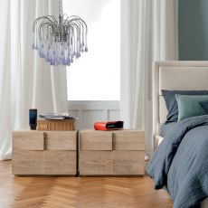 Tip Tap-N - Dall'Agnese night stand made of wood, different finishes available, two drawers
