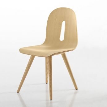 Gotham Woody W - Design chair in ash wood, natural finish