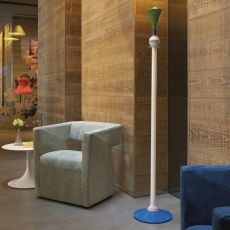 Carmen Floor - Slide floor lamp in varnished metal