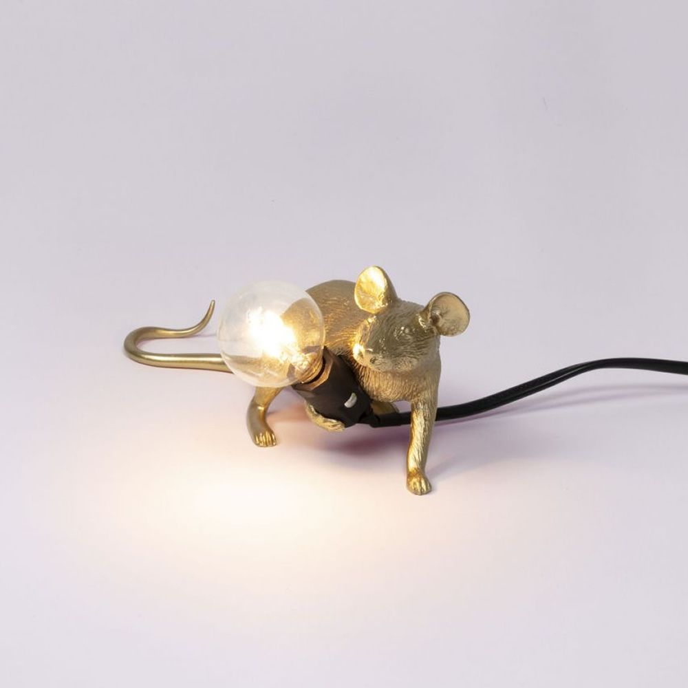 Mouse Lamp Lying down Color Oro