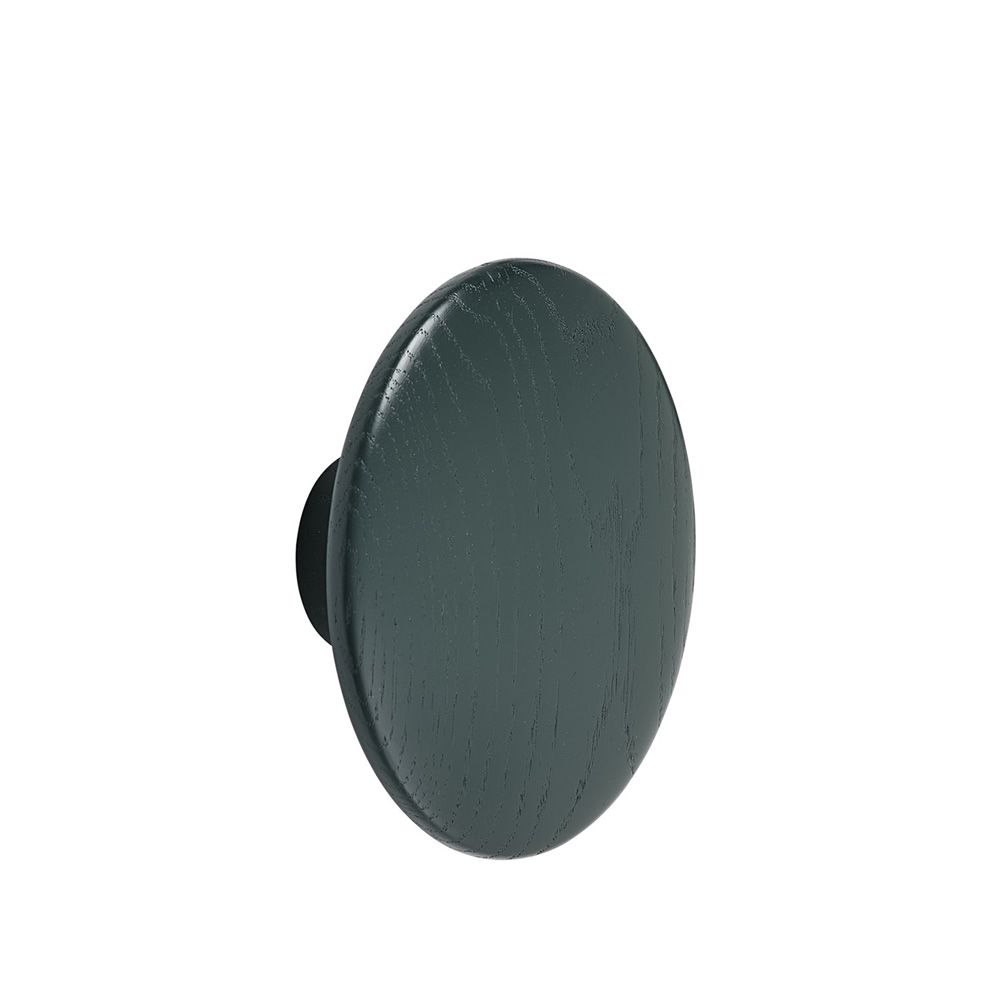 Dots Wood Ash wood Dark green stained Size Medium. Express Delivery