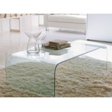 Anemone 6850 - Tonin casa rectangular coffee table in glass, different finishes available